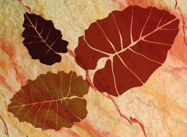 Wandschablone Leaf floral