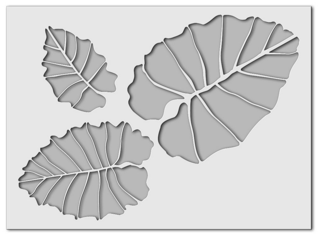 Wandschablone Leaf