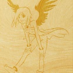 Wandschablone Angeline manga Kinderzimmer