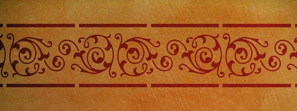 Wandschablone Bordüre 6 Kultur