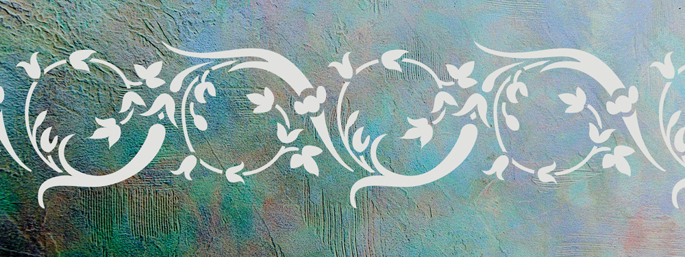 Wandschablone Maifest floral