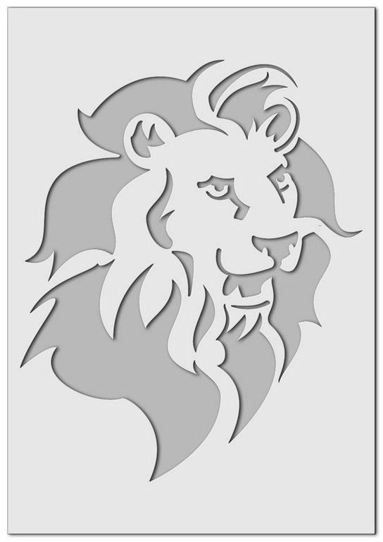 Wandschablone Löwe