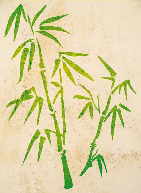 Wandschablone Bambus 2 floral
