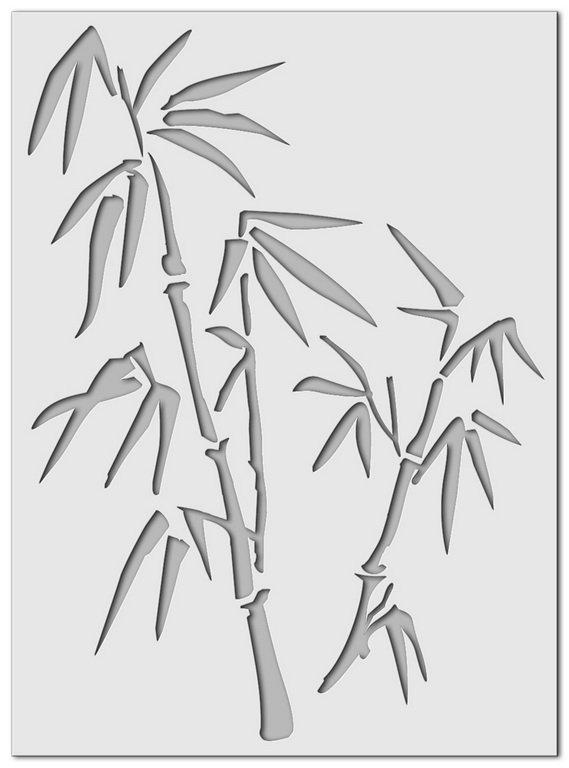 Wandschablone Bambus 2
