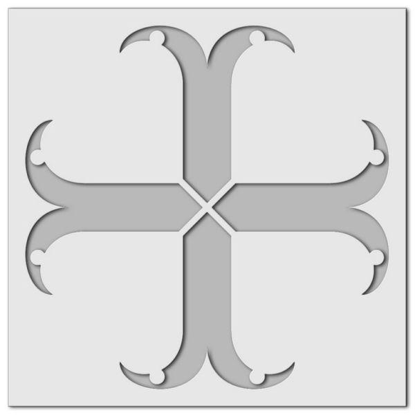 Wandschablone Gothic