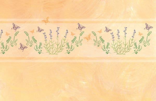 Wandschablone Wiese floral