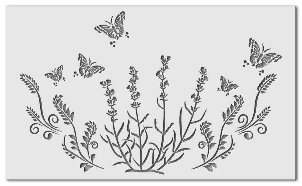 Wandschablone Wiese
