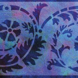 Wandschablone Spiralo floral