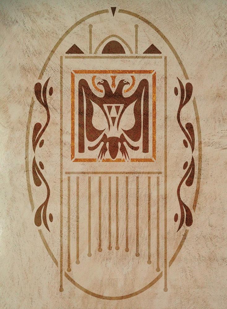 Wandschablone Wappen Kultur