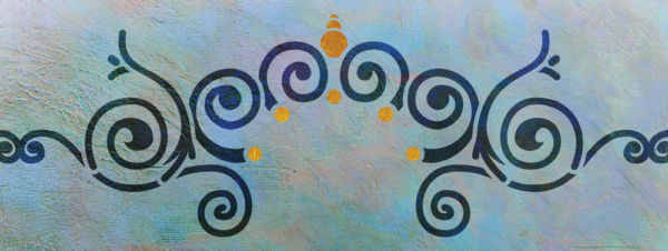 Wandschablone Maharadschi Kultur