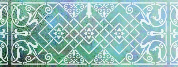 Wandschablone Akkomodo floral