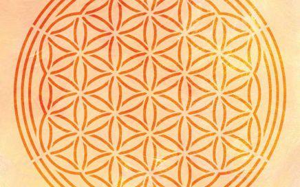 Wandschablone Blume des Lebens floral