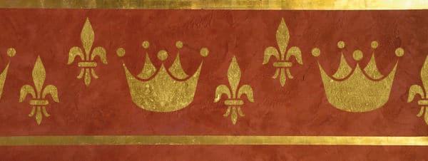 Wandschablone Crowny Kultur