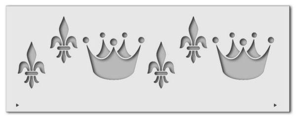 Wandschablone Crowny