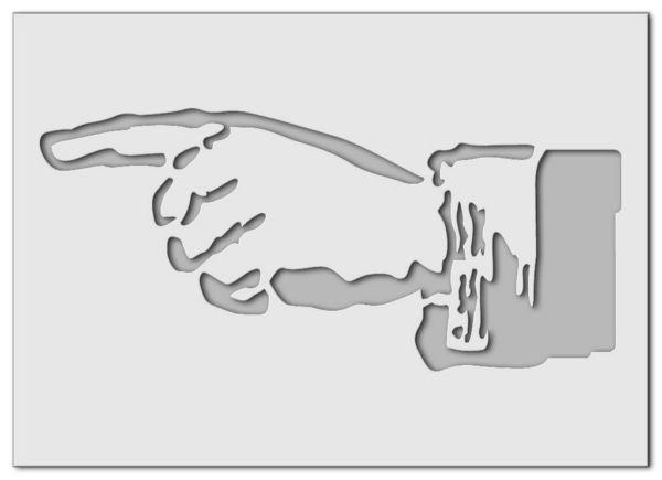 Wandschablone Hand