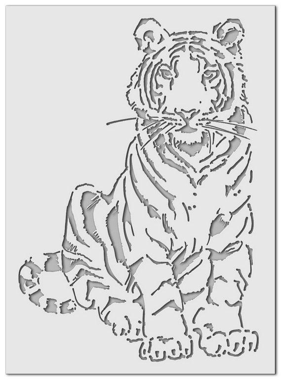 Wandschablone Tiger Tom