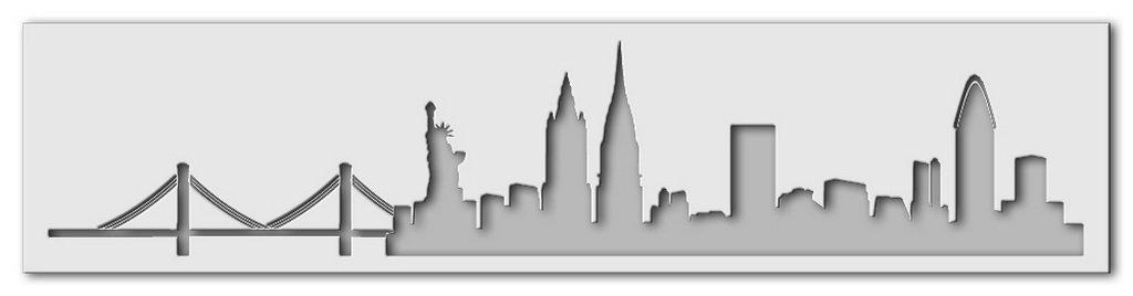 Wandschablone New York