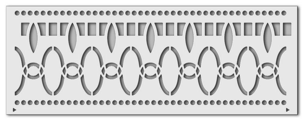 1057 suleyman art deco wandschablone