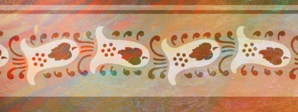 Wandschablone Glocken floral