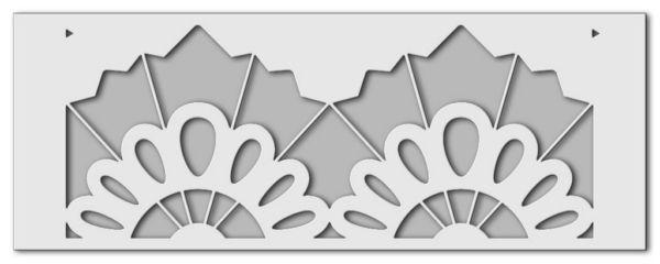 Wandschablone Spitzenborte
