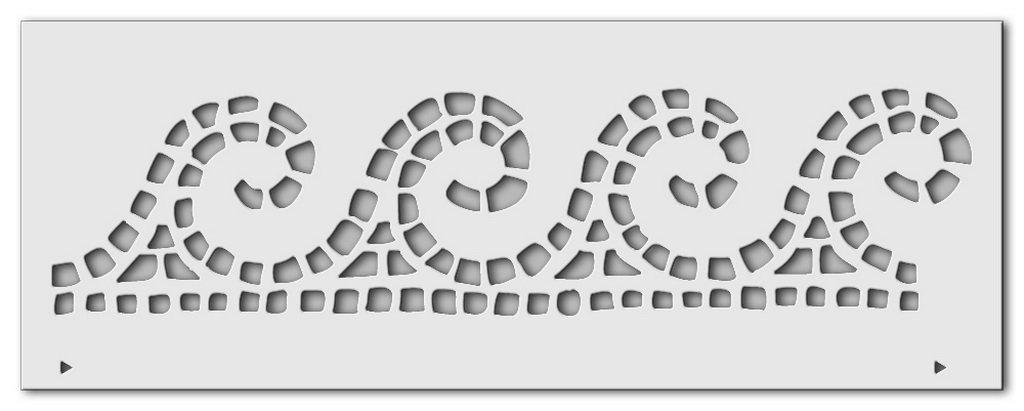 Wandschablone Wellenmosaik