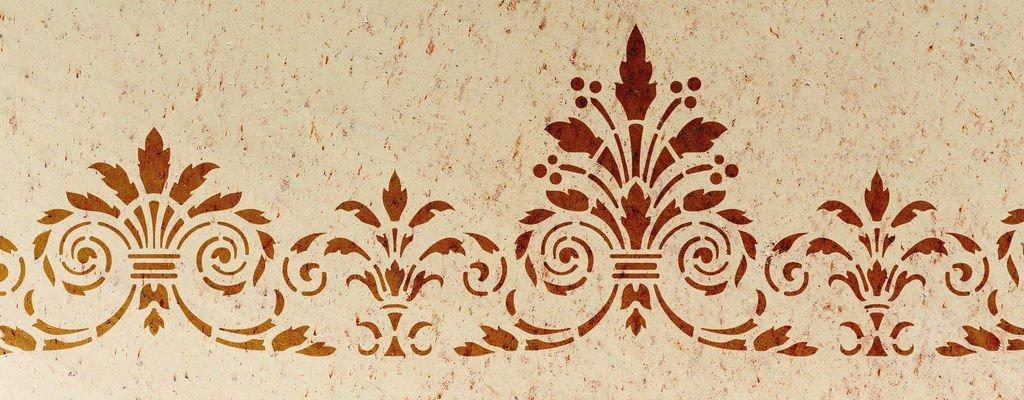 Gr nderzeit individuelle schablonen f r aussen und innen - Wand muster schablonen ...