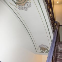 Schablone Treppenhaus