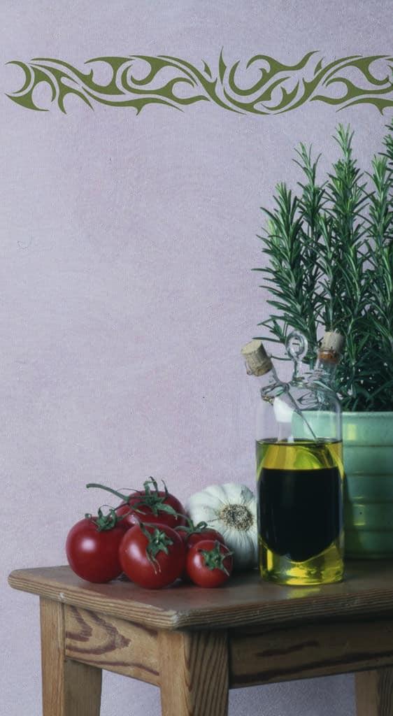Galerie wandschablonen inspiration und arbeitsbeispiele - Wandschablone kuche ...