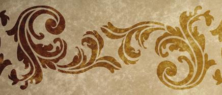 Akanthus Dekorative Wandschablone Barock