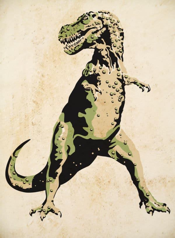 Wandschablone Tiere Urzeit Tarbosaurusbataar