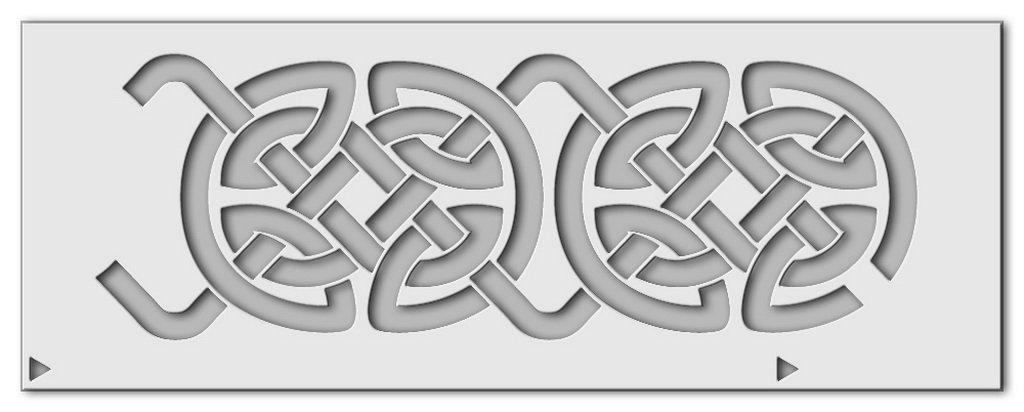 Wandschablone Keltik 4 Druck