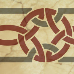Wandschablone Keltik 8 Kultur
