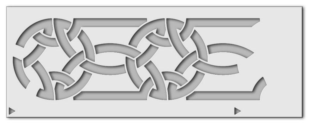 Wandschablone Keltik 8 Druck
