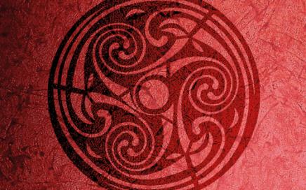 Triskele wandschablone mystik