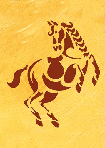 Pferd Schablone