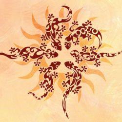 Wandschablone Sonnenrad
