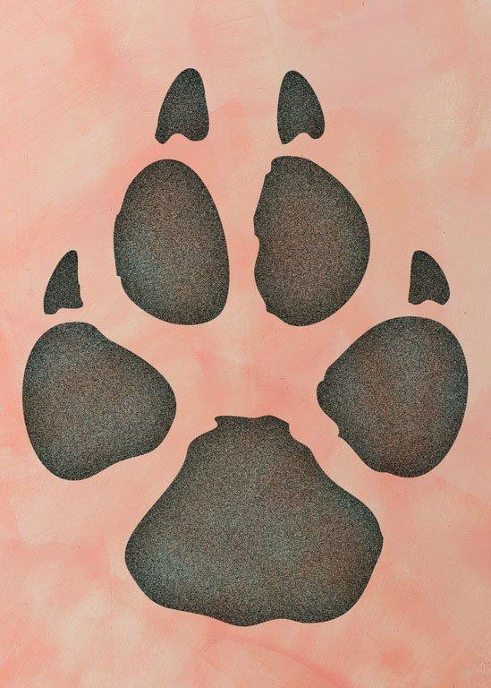 Wandschablone Wolfsspur