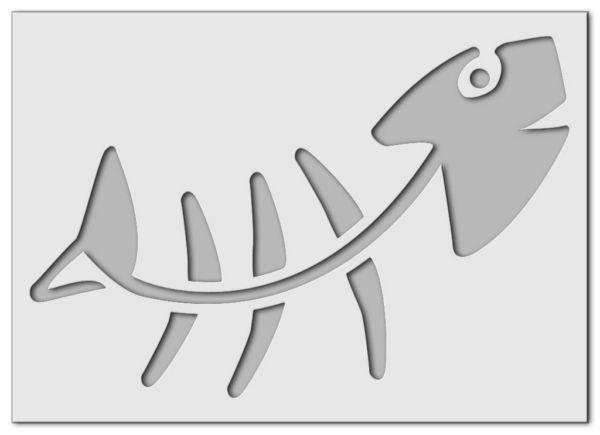 Wandschablone Fisch