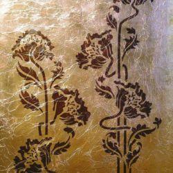 Wandschablone floral Blumen