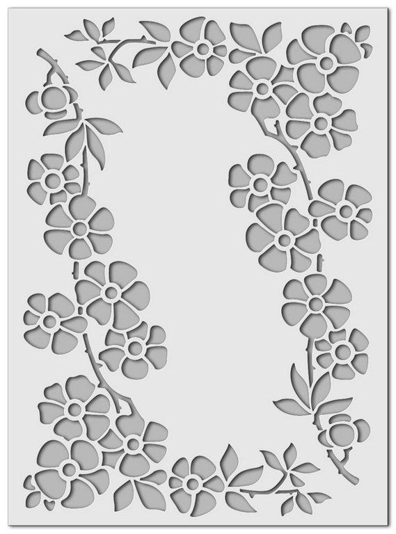 Wandschablone Streublümchen