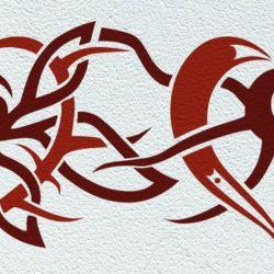 Wanschablone Tattoo Tribal1