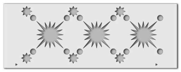 Wandschablone Sternenglanz