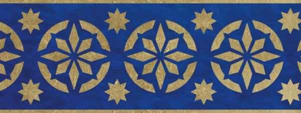 Wandschablone Ornament Bordüre kultur