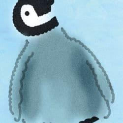 Wandschablone Pinguin Kinderzimmer