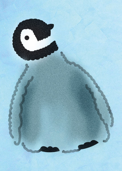 Wandschablone pinguin kinderzimmer tiere for Wandschablone kinderzimmer