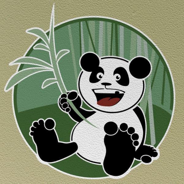 Wandschablone Kinderzimmer Panda