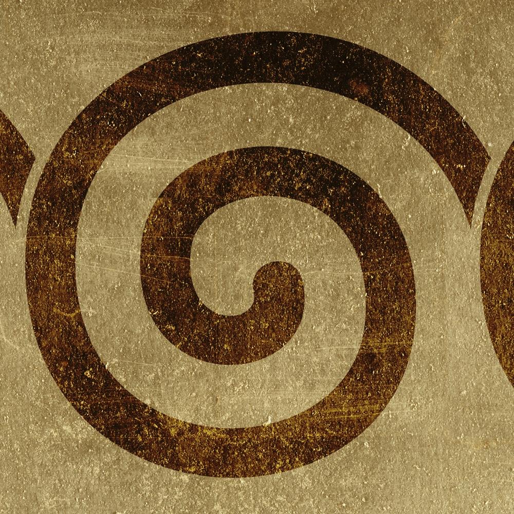 Wandschablone Spirale Kultur