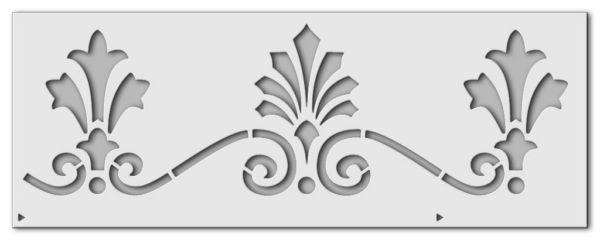 Wandschablone Lilienband