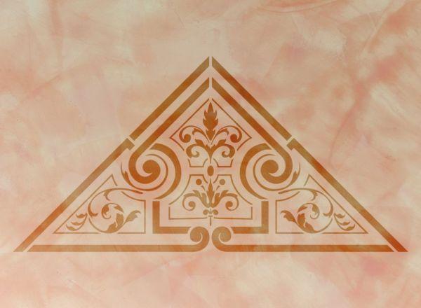 Wandschablone Triangel Kultur
