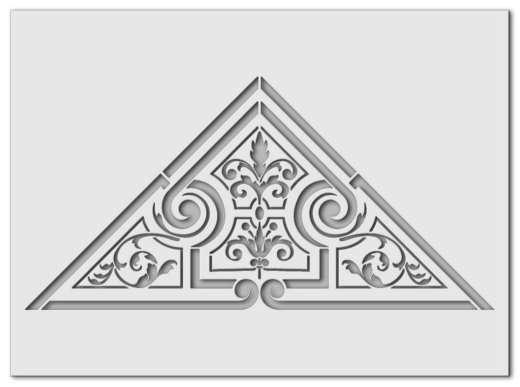 Wandschablone Triangel